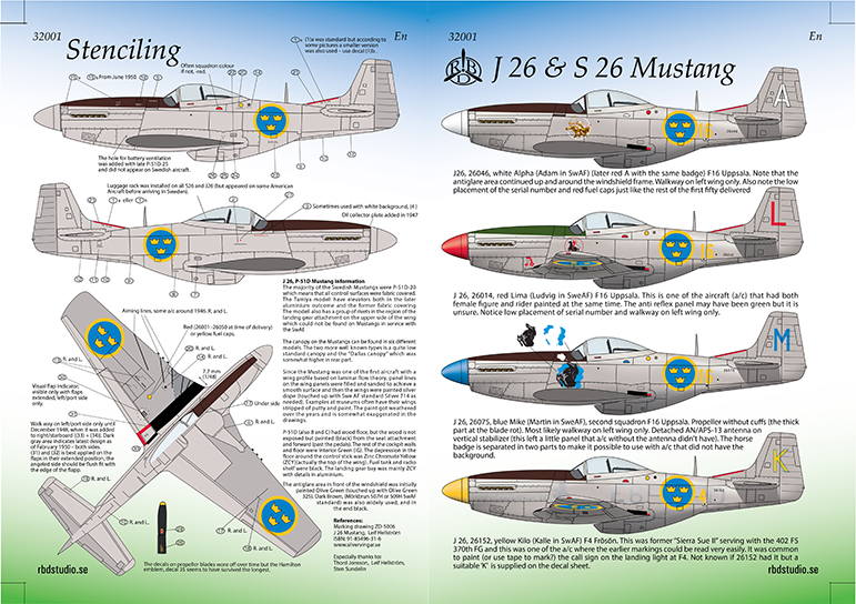 J 26 Mustang 1/32 Instructions